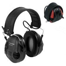 CASQUE ANTI BRUIT ELECTRONIQUE PELTOR SPORTTAC NOIR
