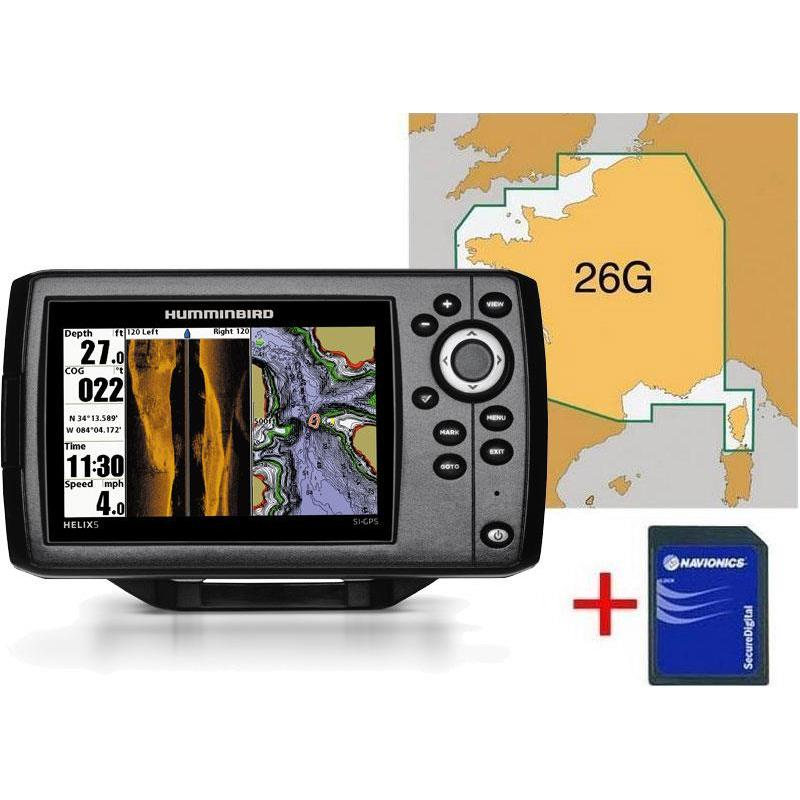 color fishfinder /gps humminbird helix 5 si sonde ta map 26g, Fish Finder