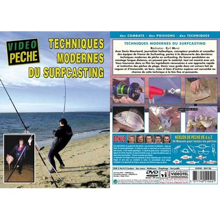 DVD - TECHNIQUES MODERNES DU SURFCASTING AVEC DENIS MOURIZARD - PECHE EN MER - VIDEO PECHE