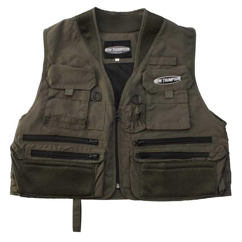Fly fishing vest ron thompson ontario fly vest for Fly fishing vest