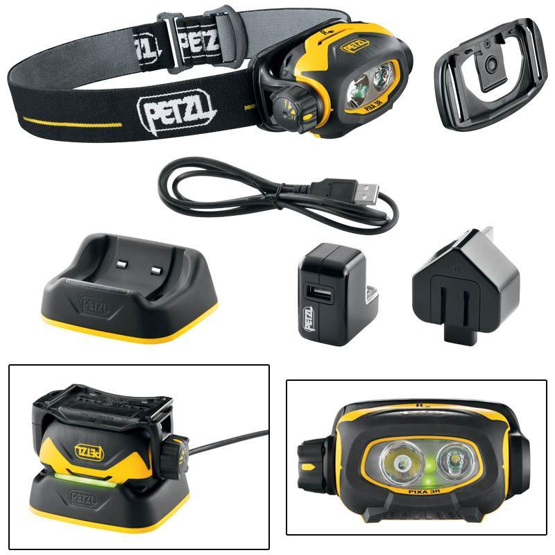 lampe frontale petzl pixa 3r rechargeable. Black Bedroom Furniture Sets. Home Design Ideas