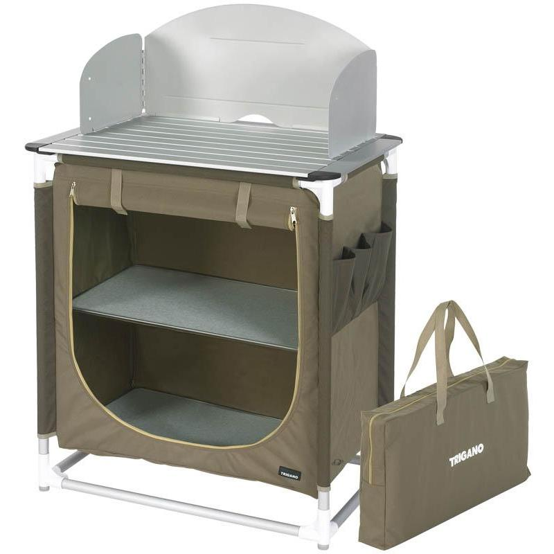 Mueble cocina trigano beis marr n for Mueble cocina camping