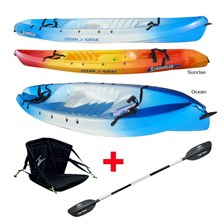 PACK KAYAK SIT ON TOP OCEAN KAYAK SCRAMBLER CLASSIQUE + DOSSIER + PAGAIE