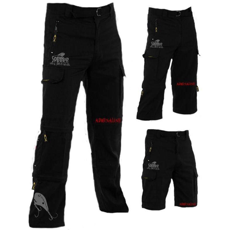 PANTALON HOMME HOT SPOT DESIGN MODULABLE ADRENALINE  NOIR
