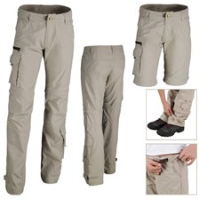 PANTALON MODULABLE QUECHUA TECHFRESH GARCON JUNIOR BEIGE