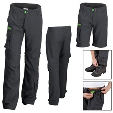 PANTALON MODULABLE QUECHUA TECHFRESH GARCON JUNIOR NOIR