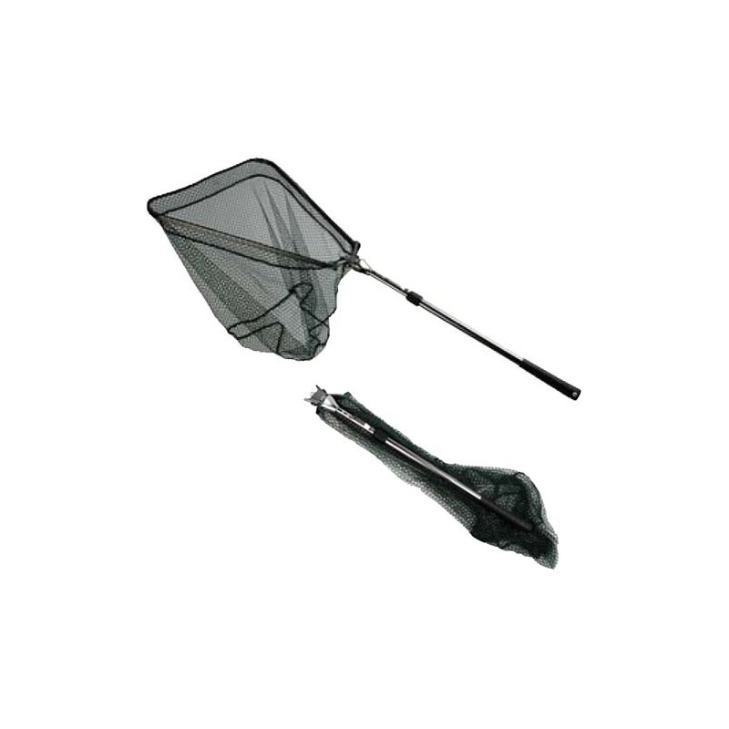 Telescopic landing net abu garcia compact folding game nets for Collapsible fishing net