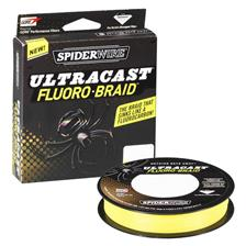 TRESSE SPIDERWIRE ULTRACAST FLUORO BRAID HI-VIS YELLOW 110M