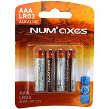 4 ALKALINE BATTERY PACK NUMAXES LR03 AAA 1.5V