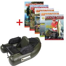 ABONNEMENT MAGAZINE BROCHET SANDRE + FLOAT TUBE SPARROW FAT BOY