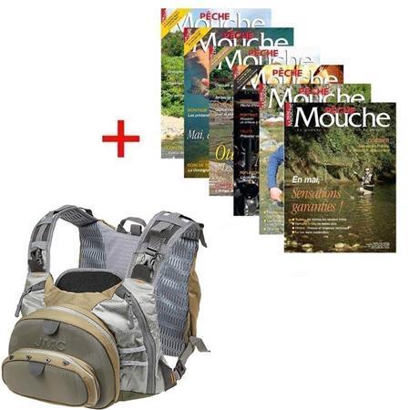 ABONNEMENT MAGAZINE PECHE MOUCHE + CHEST PACK COMPETITION JMC