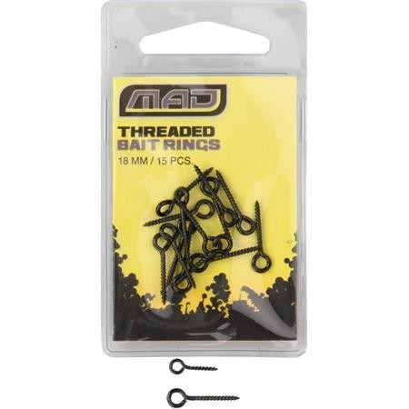 ACCROCHE APPAT MAD THREADED BAIT RINGS
