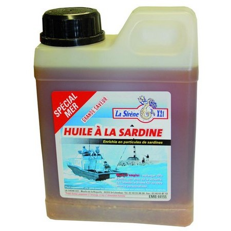 ADDITIF LIQUIDE LA SIRÈNE X21 HUILE A LA SARDINE - 1L