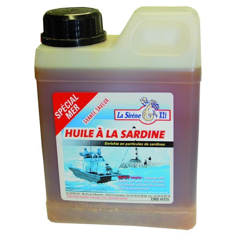 ADDITIF LIQUIDE LA SIRÈNE X21 HUILE A LA SARDINE - 1L - 893850001