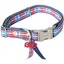 ADJUSTABLE DOG COLLAR IMAGE DOG SAVE THE QUEEN