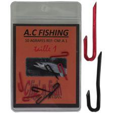 AGRAFE TRUITE POUR MONTURE MULTI-LEURRE AC FISHING - PAR 10