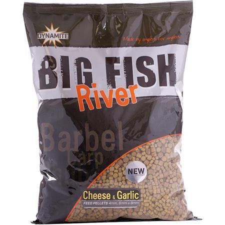 AMORCE DYNAMITE BAITS BIG FISH RIVER FEED PELLETS CHEESE & GARLIC