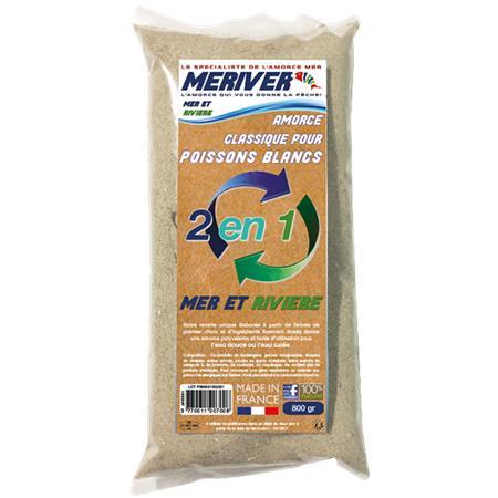 AMORCE MERIVER CLASSIQUE POISSON BLANC 2 EN 1