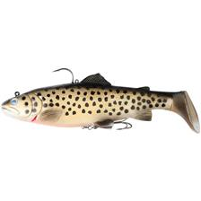 AMOSTRA VINIL MONTADA SAVAGE GEAR 3D TROUT RATTLE SHAD SS