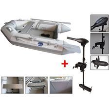 Embarcations DBI 230C BLANC + MOTEUR ELECTRIQUE HASWING OSAPIAN 40 LBS ANNEXE 230C + MOTEUR OSAPIAN 40LBS