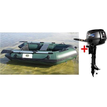 ANNEXE GONFLABLE DBI 230C FISHING - VERT + MOTEUR THERMIQUE PARSON F4BMS - 4CV