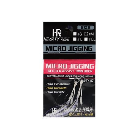 ANZUELO ASSIST HEARTY RISE MICRO JIGGING MJA-10 - PAQUETE DE 2