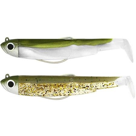 ARTIFICIALE MORBIDA MONTATA FIIISH DOUBLE COMBO BLACK MINNOW 90