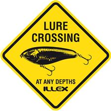 AUTOCOLLANT ILLEX STICKER LURE CROSSING