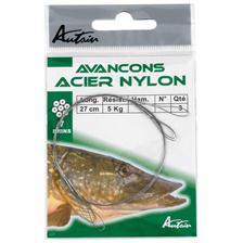 Leaders Autain AVANCON ACIER GAINE NYLON 40CM 20KG
