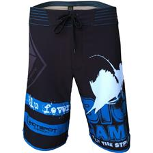 BADESHORTS HERREN HOT SPOT DESIGN BOARDSHORT BIG GAME SCHWARZ/BLAU