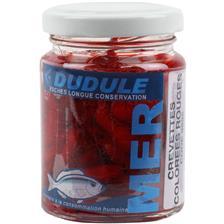 BAIT NATURAL PRESERVES DUDULE RED SHRIMPS COLOREES