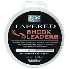 TAPERED SHOCK LEADERS 15M 25/100 À 55/100