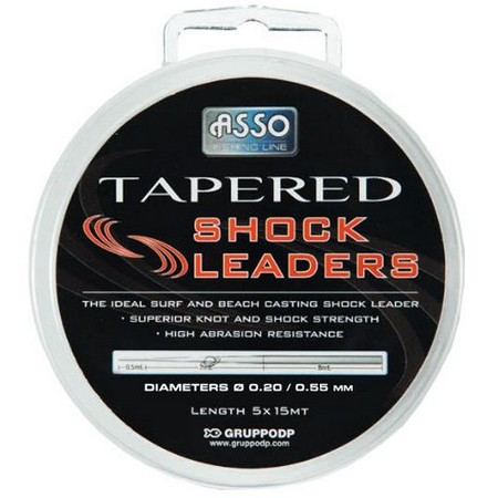 BAS DE LIGNE ASSO TAPERED SHOCK LEADERS - PAR 5