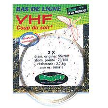 BAS DE LIGNE BACKING VHF COUP DU SOIR 3.60M 55/100 5X