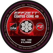 BAS DE LIGNE EFFZETT COATED CORE 49 STEELTRACE BROWN - 10M