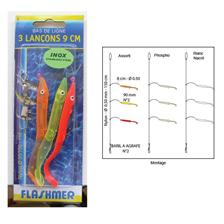 Lines Flashmer BAS DE LIGNE 3 LANCONS 9CM N° 2 PHOSPHO