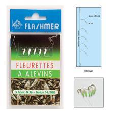 BAS DE LIGNE FLASHMER FLEURETTES A ALEVINS - PAR 10