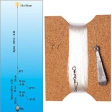 Lines Flashmer BAS DE LIGNE LIGNE PALANGROTTE COMPLETE 2 HAMEÇONS N°12 26/100 100 M