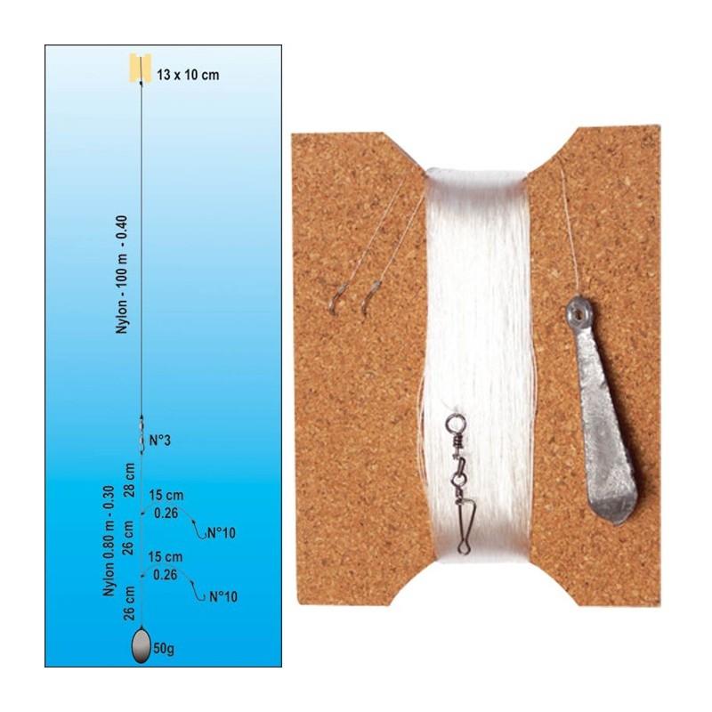 FLASHMER Palangrotte Complete 2 hame/çons 100m