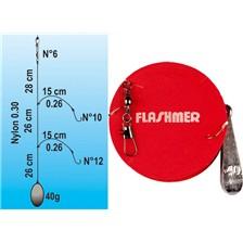 Lines Flashmer PALANGROTTE HAMEÇONS N°8 + 10