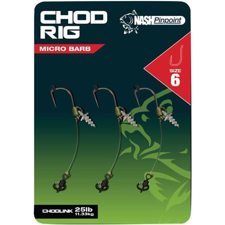 BAS DE LIGNE MONTE NASH CHOD RIG - PAR 3