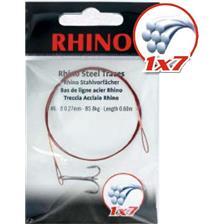 Leaders Rhino BAS DE LIGNE TRESSE ACIER 1X7 BOUCLE ET HAMECON TRIPLE 60CM 27/100