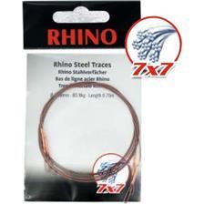 Leaders Rhino BAS DE LIGNE TRESSE ACIER 7X7 BOUCLE 70CM 34/100