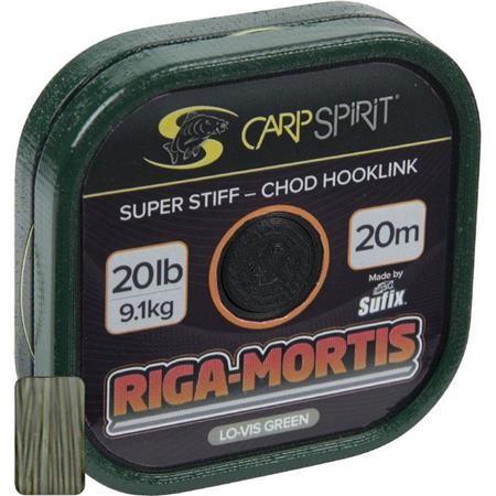 BAS DE LIGNE RIGIDE CARP SPIRIT RIGA MORTIS GREEN - 20M