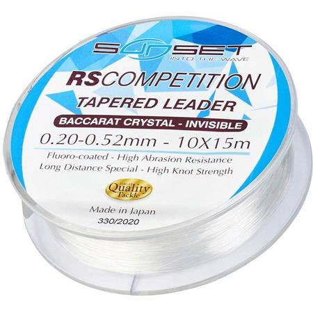 BAS DE LIGNE SUNSET TAPERED LEADER RS COMPETITION 15MX10