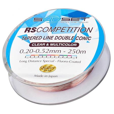 BAS DE LIGNE SUNSET TAPERED LINE DOUBLE CONIC RS COMPETITION - 250M