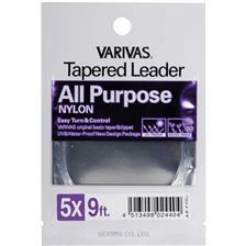 TAPERED LEADER NYLON ALL PURPOSE 12FT 5X