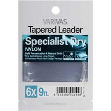 Leaders Varivas TAPERED LEADER NYLON SPECIALIST DRY 9FT 7X