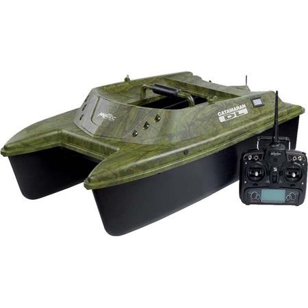 BATEAU AMORCEUR ANATEC CATAMARAN DL CAMOU OAK + SR07 + FISHING ROBOT
