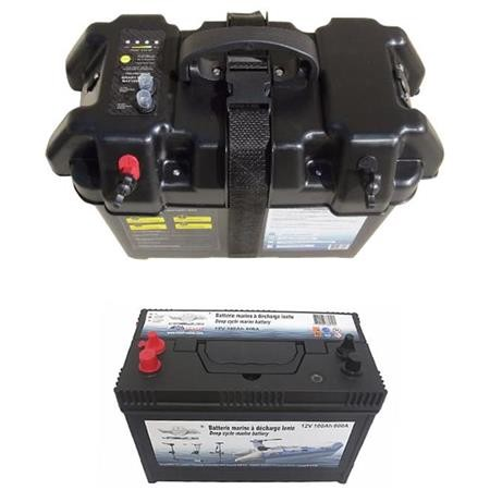 BATTERY + BOX HASWING 12V